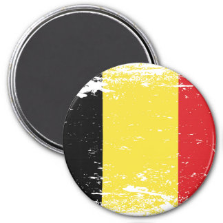 Schmutz-Belgien-Flagge Runder Magnet 7,6 Cm