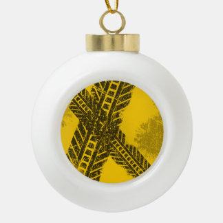 Schmutz beunruhigte schwarze keramik Kugel-Ornament
