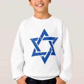 Schmutz-blauer Davidsstern Sweatshirt