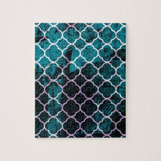 Schmutz-blauer marokkanischer Entwurf Puzzle