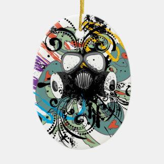 Schmutz-Blumengasmaske Keramik Ornament