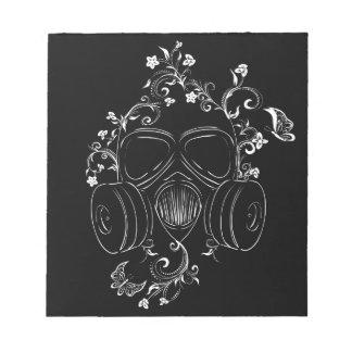 Schmutz-Blumengasmaske Notizblock