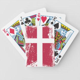 Schmutz-Dänemark-Flagge Bicycle Spielkarten