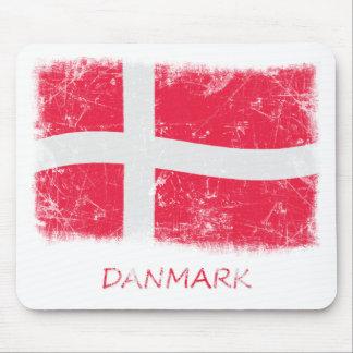 Schmutz-Dänemark-Flagge Mousepads