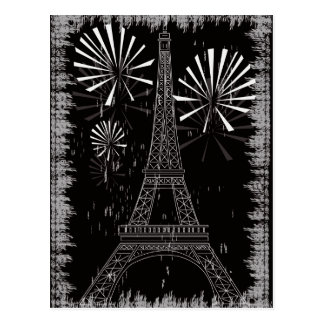 Schmutz-Eiffelturm Postkarte