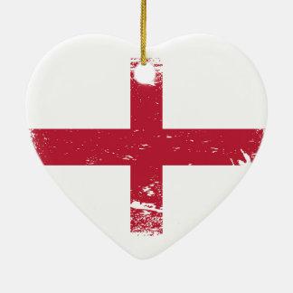 Schmutz-England-Flagge Keramik Ornament