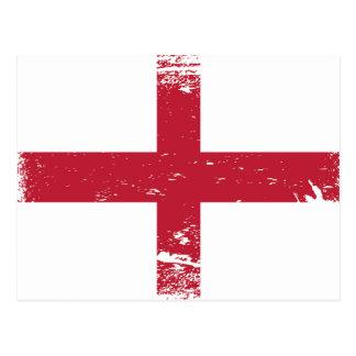 Schmutz-England-Flagge Postkarte