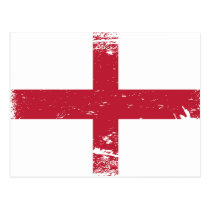 Schmutz-England-Flagge Postkarten
