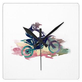 Schmutz-Fahrrad Quadratische Wanduhr