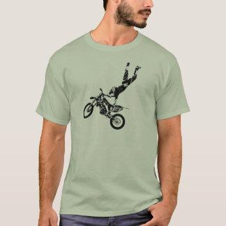 Schmutz-Fahrrad-Supermann T-Shirt