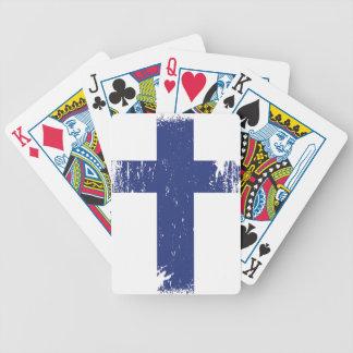 Schmutz-Finnland-Flagge Bicycle Spielkarten