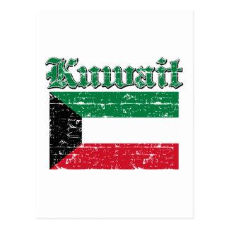 Schmutz-Flagge von Kuwait Postkarte