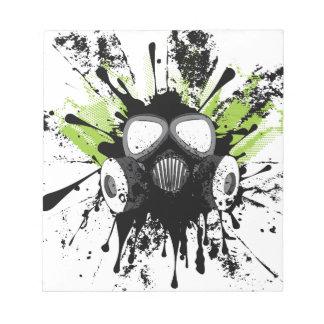 Schmutz-Gas Mask2 Notizblock