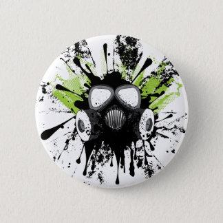 Schmutz-Gas Mask2 Runder Button 5,7 Cm