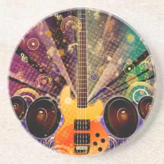 Schmutz-Gitarre mit Lautsprechern 2 Sandstein Untersetzer