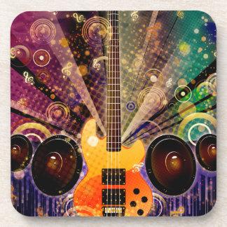 Schmutz-Gitarre mit Lautsprechern 2 Untersetzer