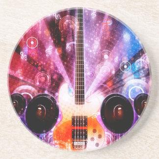 Schmutz-Gitarre mit Lautsprechern 3 Sandstein Untersetzer