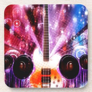 Schmutz-Gitarre mit Lautsprechern 3 Untersetzer