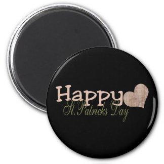 Schmutz-glücklichen St Patrick Tag Runder Magnet 5,1 Cm