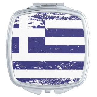 Schmutz-Griechenland-Flagge Taschenspiegel