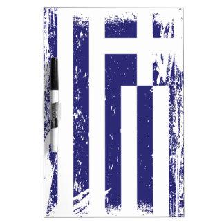 Schmutz-Griechenland-Flagge Trockenlöschtafel