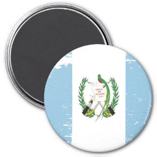 Schmutz-Guatemala-Flagge Runder Magnet 7,6 Cm