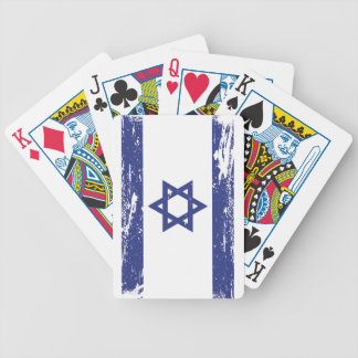 Schmutz-Israel-Flagge Bicycle Spielkarten