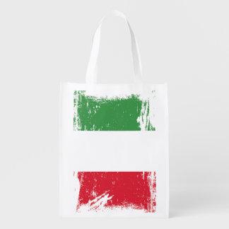 Schmutz-Italien-Flagge Einkaufstaschen
