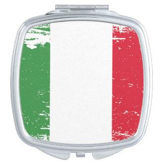 Schmutz-Italien-Flagge Schminkspiegel