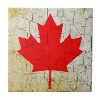 Schmutz-Kanada-Flagge Kleine Quadratische Fliese