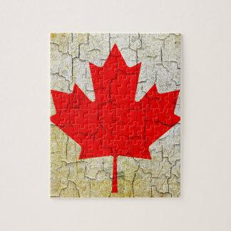 Schmutz-Kanada-Flagge Puzzle