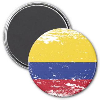Schmutz-Kolumbien-Flagge Runder Magnet 7,6 Cm