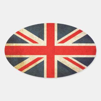 Schmutz-Königreich-Flagge Ovaler Aufkleber