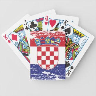 Schmutz-Kroatien-Flagge Bicycle Spielkarten