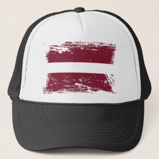 Schmutz-Lettland-Flagge Truckerkappe