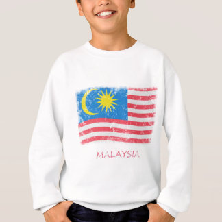 Schmutz-Malaysia-Flagge Sweatshirt