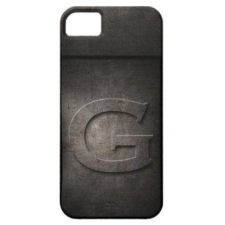 Schmutz-Metallg-Monogramm Iphone Fall Etui Fürs iPhone 5