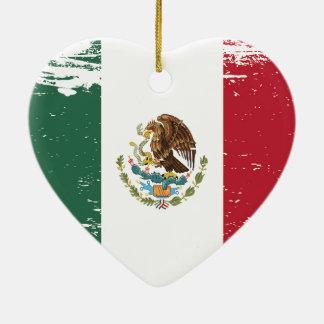 Schmutz-Mexiko-Flagge Keramik Ornament