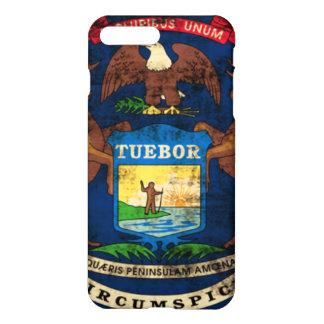 Schmutz-Michigan-Flagge iPhone 8 Plus/7 Plus Hülle