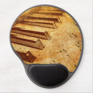 Schmutz-Musik-Blatt-Klavier-Schlüssel Gel Mousepad