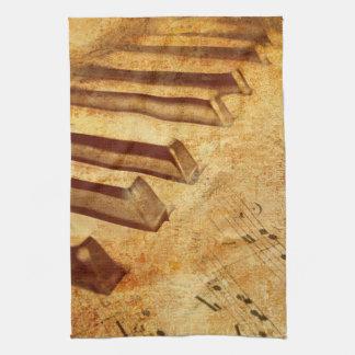 Schmutz-Musik-Blatt-Klavier-Schlüssel Geschirrtuch