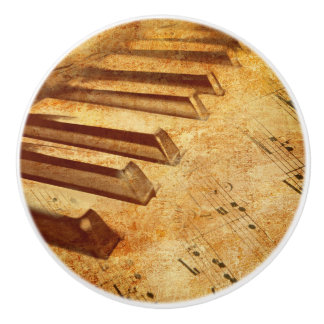 Schmutz-Musik-Blatt-Klavier-Schlüssel Keramikknauf