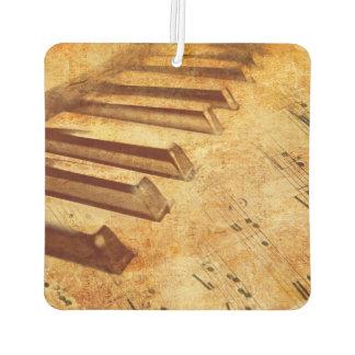 Schmutz-Musik-Blatt-Klavier-Schlüssel Lufterfrischer