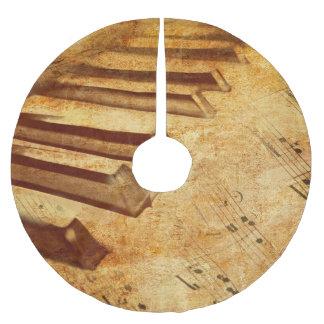 Schmutz-Musik-Blatt-Klavier-Schlüssel Polyester Weihnachtsbaumdecke