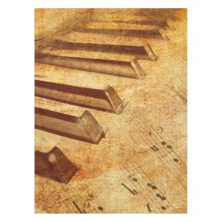 Schmutz-Musik-Blatt-Klavier-Schlüssel Tischdecke