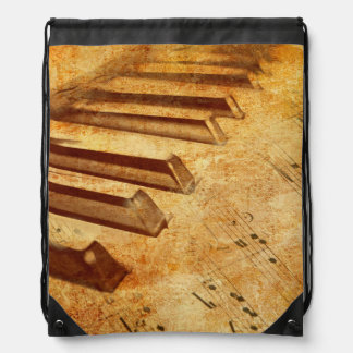 Schmutz-Musik-Blatt-Klavier-Schlüssel Turnbeutel