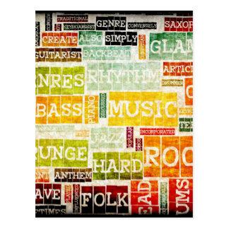 Schmutz-Musik-Hintergrund Postkarte