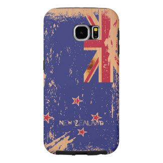 Schmutz-Neuseeland-Flagge auf Holz