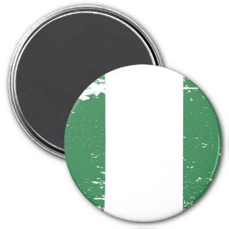 Schmutz-Nigeria-Flagge Runder Magnet 7,6 Cm