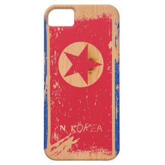 Schmutz-Nordkorea-Flagge auf Holz Hülle Fürs iPhone 5